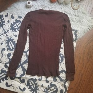 Lucky Brand Tops - Lucky Brand Thermal Waffle Knit Long Sleeve Tee